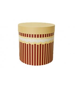 Коробка для цветов цилиндр, кружево, d-200, h-200