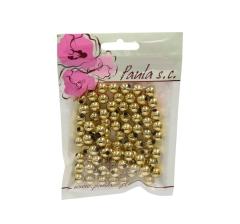 Бусины золотые 10 мм, 1 пакетик ( 50 г. )