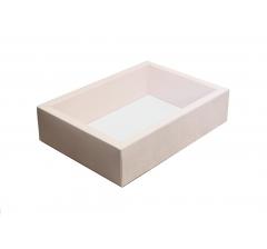 Коробка 310*180*80  мм с прозрачной крышкой, нюд