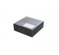 Коробка 190*190*65 мм с прозрачной крышкой, темно-синее дно
