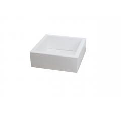 Коробка 190*190*65 мм с прозрачной крышкой, белое дно