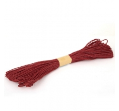 Шнур бумажный декоративный, светло-красный
