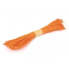 Шнур бумажный декоративный, светло-оранжевый