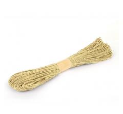 Шнур бумажный декоративный, песочный