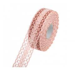 Лента 3,5 см/10 м 224168, грязно-розовая