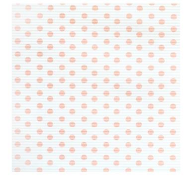 Бумага гофрированная 50 см/10 м,розовые точки на белом