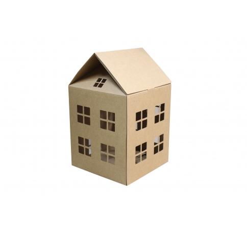Коробка-домик 20*20*23 см (без крыши), крафт