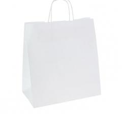 Пакет крафт белый 26*12*24 см