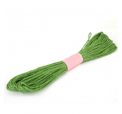 Шнур бумажный декоративный, зеленый