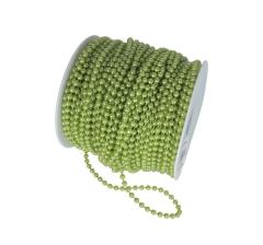 Бусины в рулоне 4мм/40м, зеленые металлик