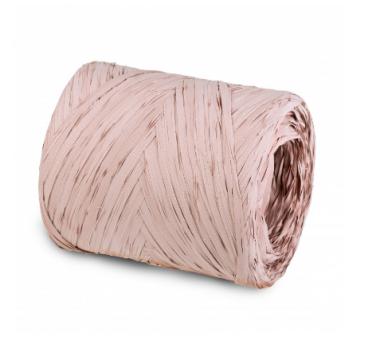 Рафия искусственная 200 м, грязно-розовый