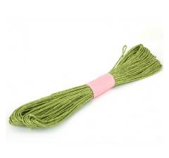 Шнур бумажный декоративный, желтовато-зеленый