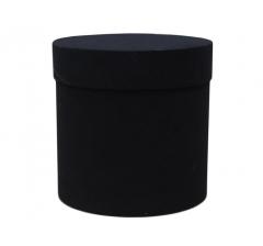 Коробка бархатная, d-200, h-200, черная