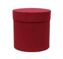 Коробка бархатная, d-200, h-200, красная