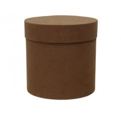 Коробка бархатная, d-200, h-200, коричневая
