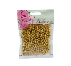 Бусины золотые 7 мм, 1 пакетик ( 50 г. )