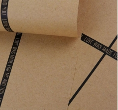 Бумага 60 х 60 см, бурый крафт с полосками