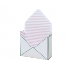Коробка 170*140*60 мм, голубая с розовыми полосками