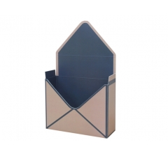 Коробка 170*140*60 мм, грязно-бежевый с синим кантом