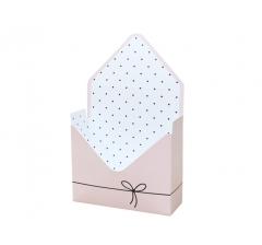 Коробка 170*140*60 мм, розовый с бантиком