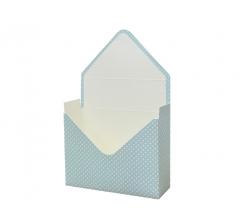 Коробка 170*140*60 мм, голубой в мелкий горошек