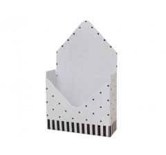 Коробка 170*140*60 мм, бледно-розовый в горошек