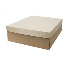 Коробка подарочная 400*400*150 с крафт крышкой и крафт дном