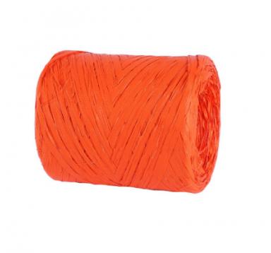 Рафия искусственная 200 м, оранжевая