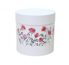 Коробка для цветов цилиндр, d-150, h-150, дизайн 18