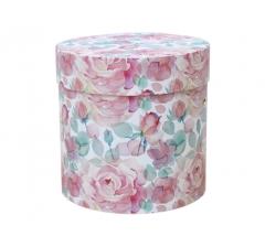 Коробка для цветов цилиндр, d-150, h-150, дизайн 23