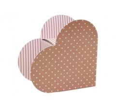 Коробка в виде сердца 20*22*9 см, дизайн 4