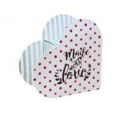 Коробка в виде сердца 20*22*9 см, дизайн 8