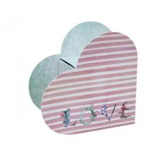 Коробка в виде сердца 20*22*9 см, дизайн 3