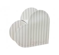 Коробка в виде сердца 20*22*9 см, дизайн 1