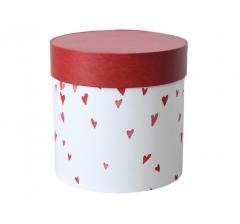 Коробка для цветов цилиндр, d-150, h-150, дизайн 34