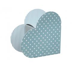 Коробка в виде сердца 20*22*9 см, дизайн 12