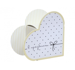 Коробка в виде сердца 20*22*9 см, дизайн 13