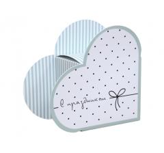 Коробка в виде сердца 20*22*9 см, дизайн 14