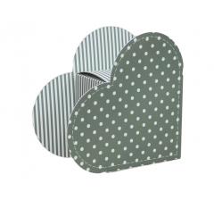 Коробка в виде сердца 20*22*9 см, дизайн 22
