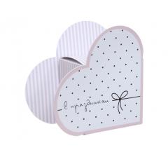 Коробка в виде сердца 20*22*9 см, дизайн 23