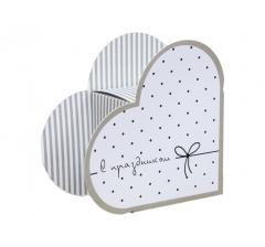 Коробка в виде сердца 20*22*9 см, дизайн 26
