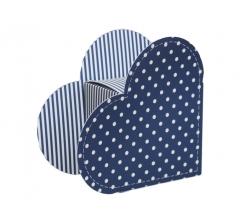 Коробка в виде сердца 20*22*9 см, дизайн 27