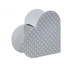 Коробка в виде сердца 20*22*9 см, дизайн 28