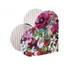 Коробка в виде сердца 20*22*9 см, дизайн 29
