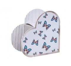Коробка в виде сердца 20*22*9 см, дизайн 32