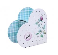 Коробка в виде сердца 20*22*9 см, дизайн 16