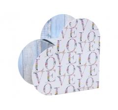 Коробка в виде сердца 20*22*9 см, дизайн 18