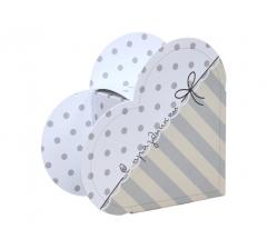 Коробка в виде сердца 20*22*9 см, дизайн 19