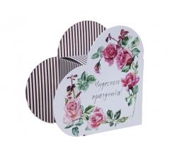 Коробка в виде сердца 20*22*9 см, дизайн 35