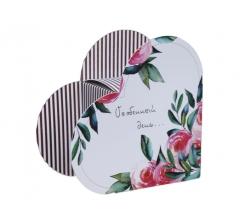 Коробка в виде сердца 20*22*9 см, дизайн 36